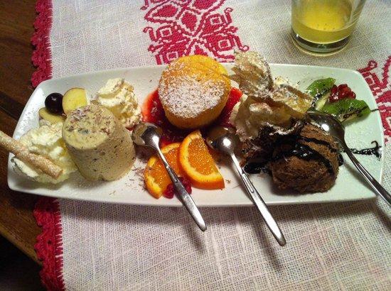 Die Gartenrast : Il tris di dolci