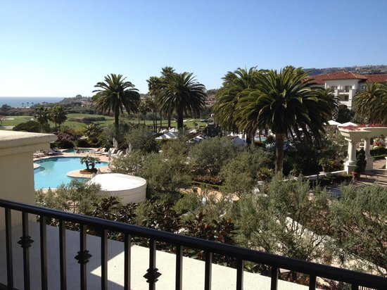 Monarch Beach Resort: view from pool-facing room