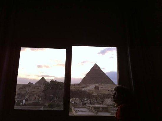 Pyramids View Inn : The view form room 101