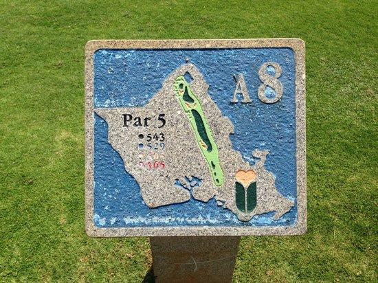 Hawaii Prince Golf Course: Golf Course - Map on each hole
