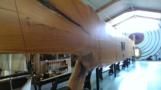 The Kauri Museum: World's largest kauri slab