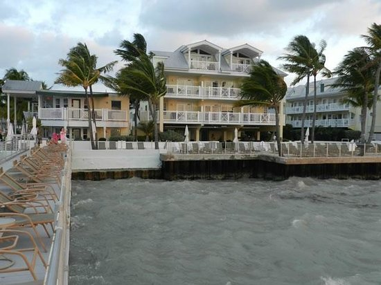 Southernmost Beach Resort : View of buildings B and C from the tanning pier