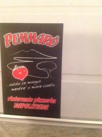 Ristorante Pizzeria Pummaro' : il biglietto da visita