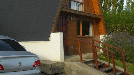 Cabanas Nevis: Frente de la cabaña
