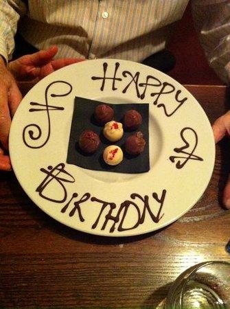 Grassington House: birthday chocolates