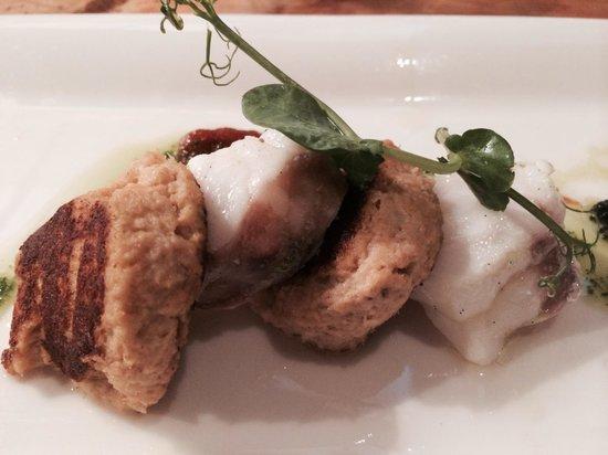 Restaurant Vis & Meer: Crabcake and Sea devil