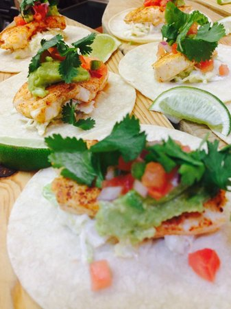 Tre Rosat Cafe : fish tacos now on appetizer menu.