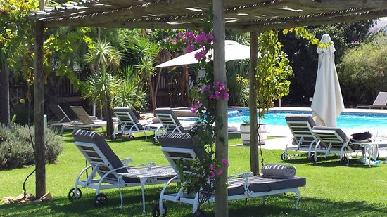 WedgeView Country House & Spa: Pool side deck chairs