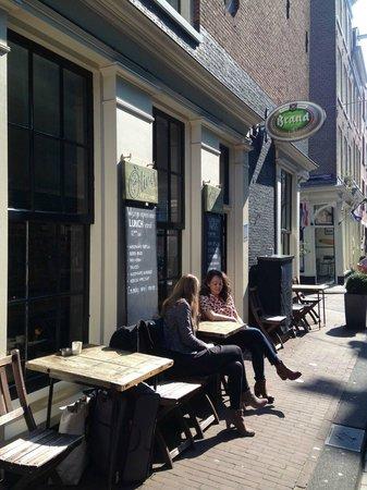 Outdoor tables from La Oliva Restaurant