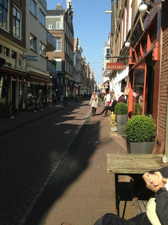 View of the street from La Oliva Restaurant, Amsterdam