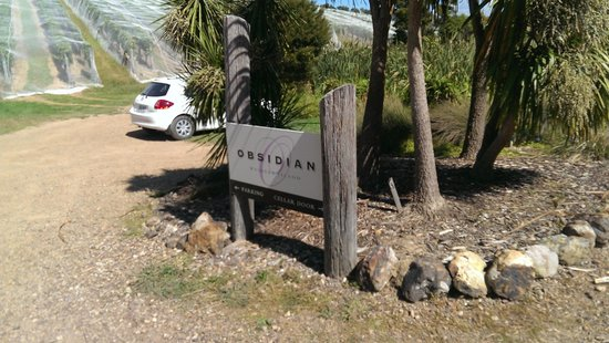 Obsidian Vineyard: Obsidian Sign