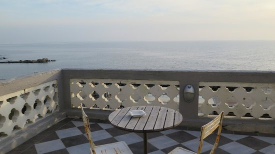 Locanda Garzelli: View of the sea from the terrace that our room opened up onto.
