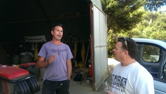 Obsidian Vineyard: Todd Cassatt and Obsidian Winemaker Mike Wood