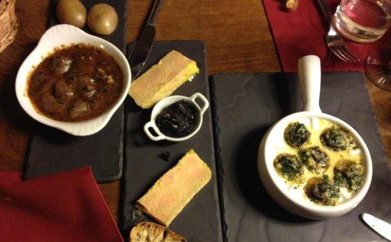 L'Escargot: Foie gras