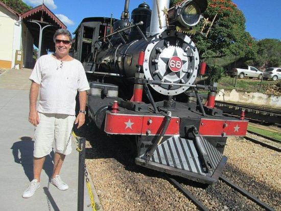 Steam train to Sao Joao del Rei: maria fumaça