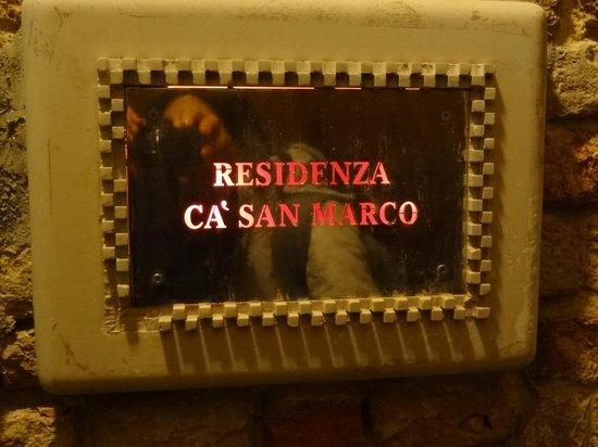 Residenza Ca' San Marco: ENTRADA