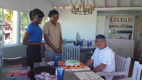 Ocean Point Resort & Spa: Dad's special birthday cake presented by the wonderful chef who made it!