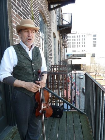 Savannah Cultural Heritage Tours and Events: Chase telling stories on the balcony
