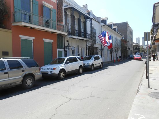 Hotel Provincial: The front of the Hotel from Rue Chartres Street.