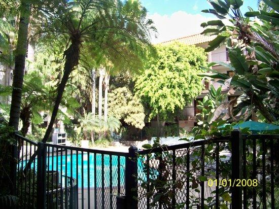 Radisson Suites Hotel Anaheim - Buena Park: Beautiful, lush, tropical pool area!