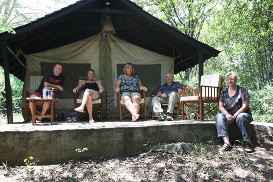 Sarova Mara Game Camp: Our group at our tent