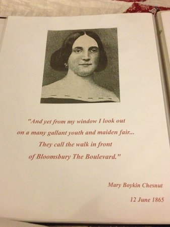 Bloomsbury Inn: Quote from past visitor