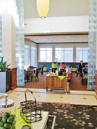 Hilton Garden Inn Schaumburg Lobby With Complimentary Coffee Tea