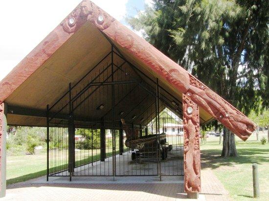 Lake Rotorua : Shelter for War Canoe