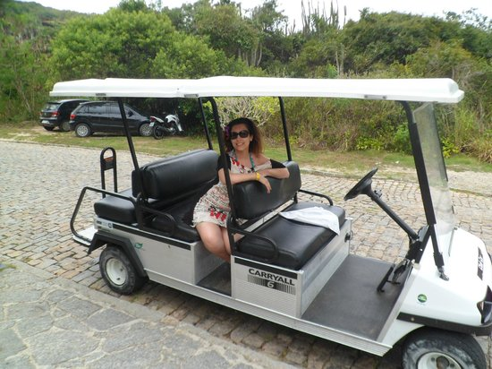 Hotel La Foret: carrito para ir a la playa gratis
