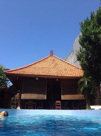 Adus Beach Inn: From the pool.