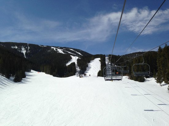 Red Lodge Mountain: Headed up to board Lazy M