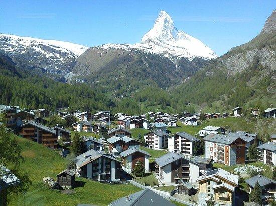 Matterhorn: Vista de dentro do trem.