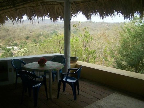 Posada Mazuntinas: View from living space in Palapa Mar