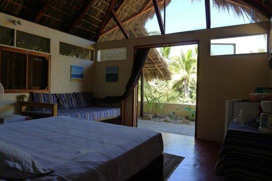 Posada Mazuntinas: View from inside the Palapita/Retreat