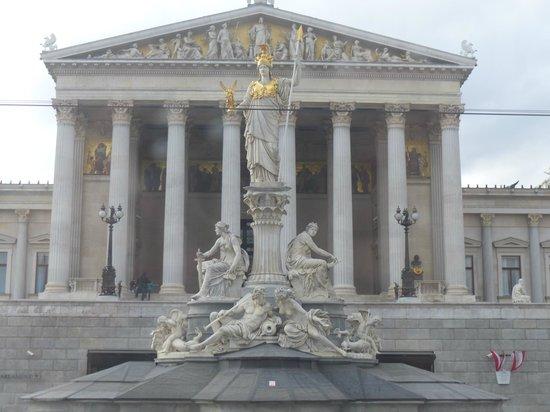 Ringstrasse : Palas Atenea frente al Parlamento