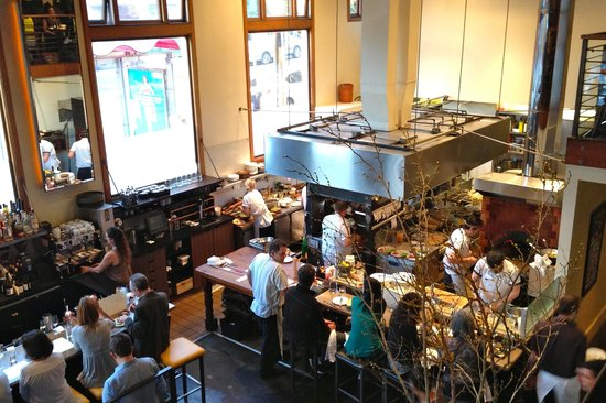 Nopa: View from the upstairs dining area