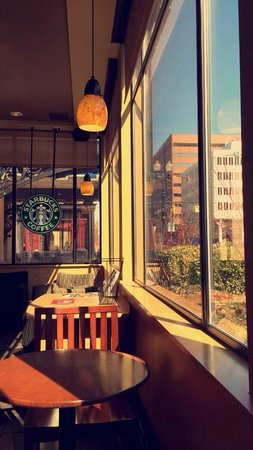 Amway Grand Plaza, Curio Collection by Hilton: the starbucks has a nice view of Grand Rapids :)