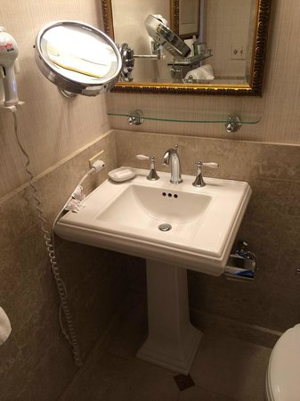 Amway Grand Plaza, Curio Collection by Hilton: sink (all looks very new- there was also a hair dryer)