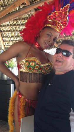 Bavaro Princess All Suites Resort, Spa & Casino: Happy man - Dominican Independance Day
