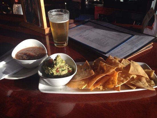Cardiff Beach Bar At Tower 13: Chips. Salsa. Guacamole !!!!