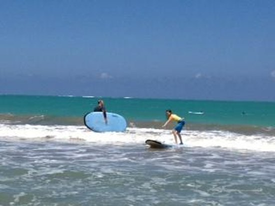 Bob's East Island Surfing Adventures: Lucy 12 y/o catching first waves