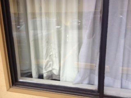 Rodeway Inn Downtown near Riverwalk: window showing dirty panel