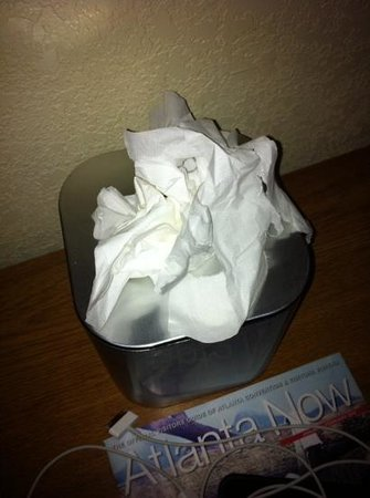 Castleberry Inn & Suites - GA Dome: tissues-  used?? dirty??