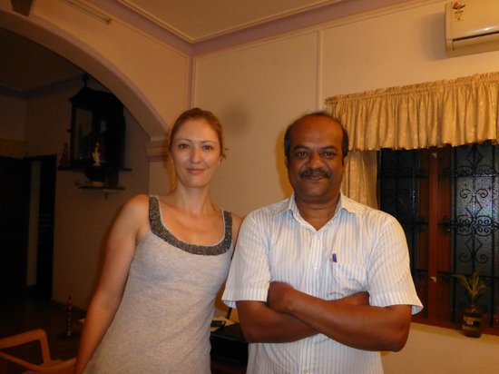 Aroma Homestay : With Joseph in the main dining/reception area
