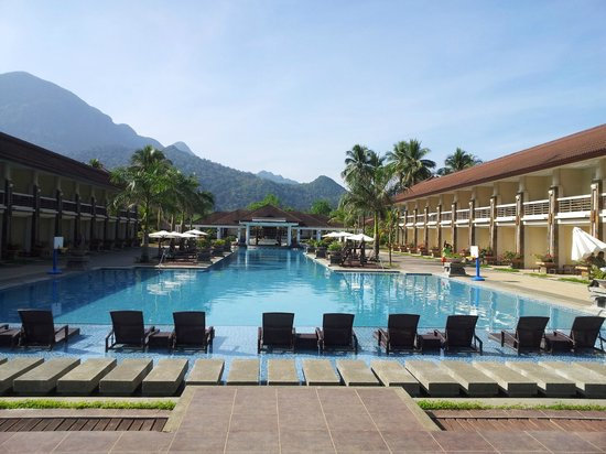 Sheridan Beach Resort and Spa: Poolblick vom Strand aus