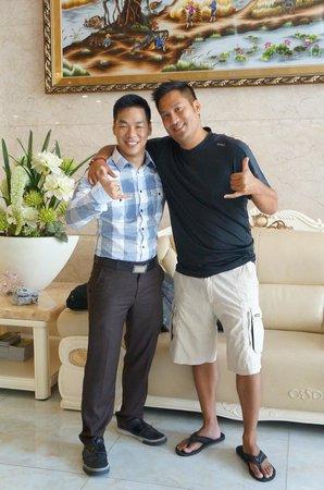 Orange Hotel: Luyen (super coold dude) & my husband