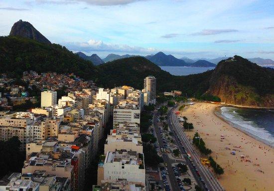 Hilton Rio de Janeiro Copacabana : View from the top floor!