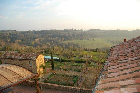Borgo Petrognano: view from the bathroom window