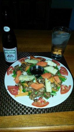 Bocawina Rainforest Resort & Adventures: Fresh Fish Salad with Papaya and Pineapple