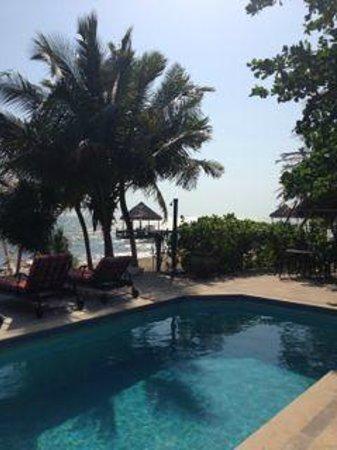 Villa Verano: view down the beach to the south